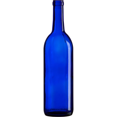 Wine Bottle, Blue, Cork, 375 ml