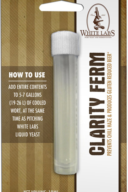 White Labs Clarity-Ferm 10ml Single Dose for 5-7 Gallon