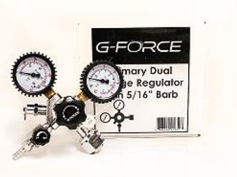 "G-Force Primary Dual Gauge Regulator with 5/16"" Barb"