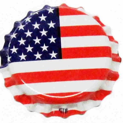 American Flag Crown Caps, 144 ct