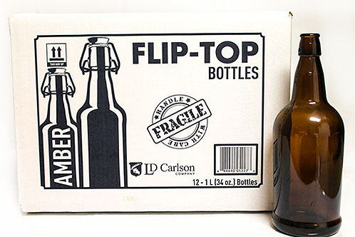 Amber Flip-Top Bottle(1 Liter)