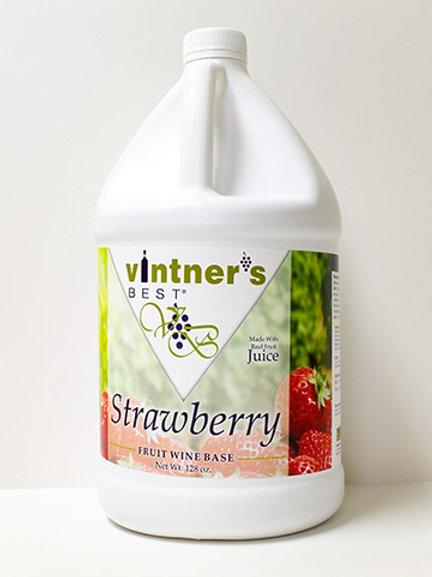 Strawberry Wine Base, 1 Gallon