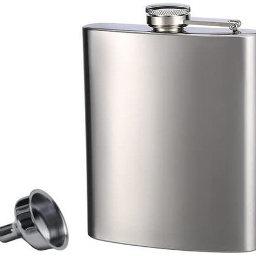 Stainless Steel Flask, 8 oz
