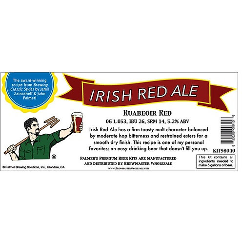 Palmer Premium Beer Kits - Irish Red Ale