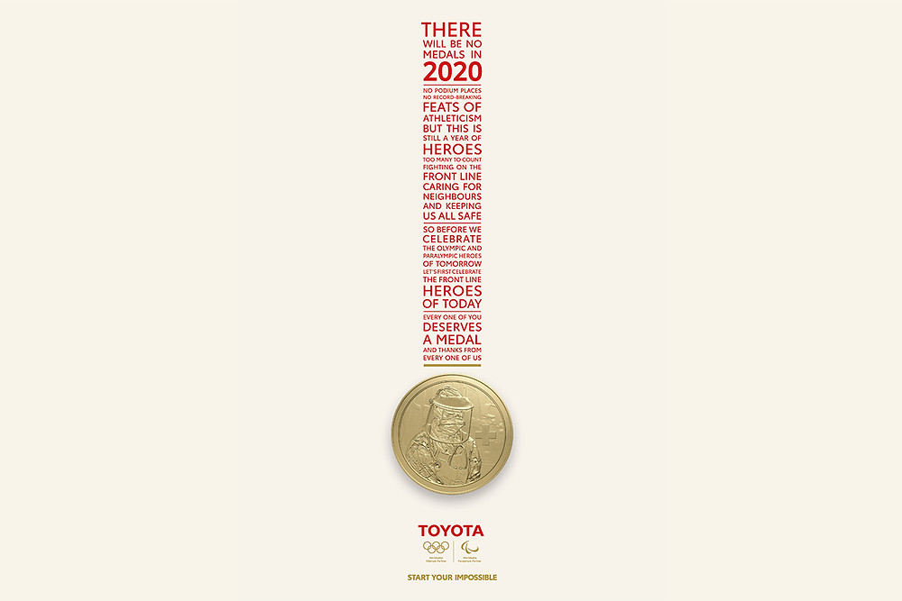 Toyota give key worker Olympic gold