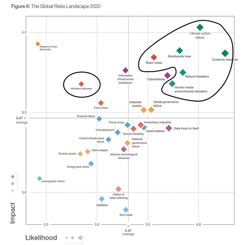 World Economic Forum 2020 Global Risks Report: climate emergency the biggest threat