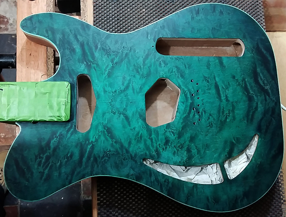 Quilted birds eye maple top