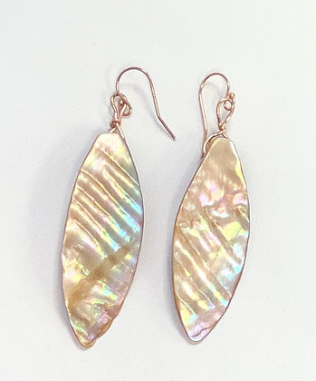 Shell Earrings (14k Rose Gold)