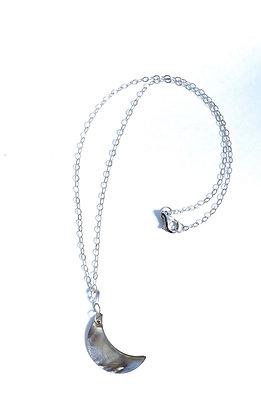 Black Lip Shell Crescent Moon Necklace