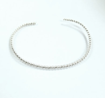 Rope Cuff Bracelet (Sterling Silver)