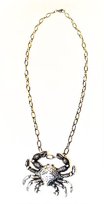 Bold Crab Necklace (stainless steel & zinc alloy)