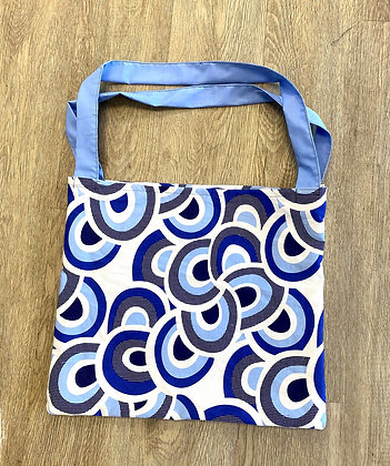 Blue Abstract Tote Purse