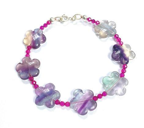 Fluorite Flowers Bracelet