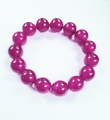 Candy Shop Bracelet:  Raspberry Jade