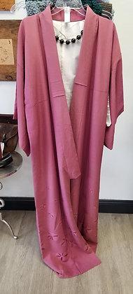 Mauve Lotus Vintage Silk Kimono