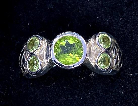 Peridot Byzantine-Style Ring