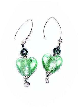Bohemian Hearts Earrings (Celery)