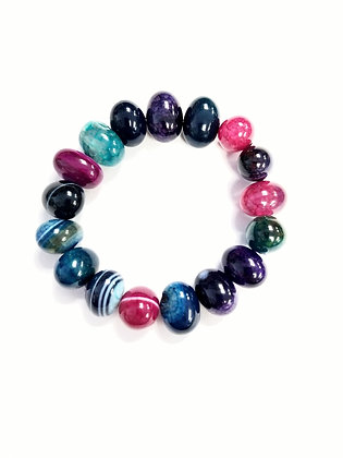 Dragon Egg Stretch Bracelet (Jewel Tones-#1)