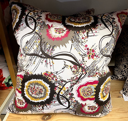 """Abstract Thistle Pillow (20"""" x 20"""")"""