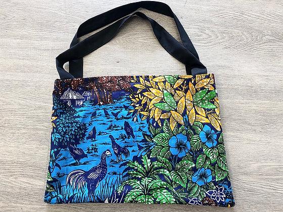 Paradise Garden Tote Bag (Blue)
