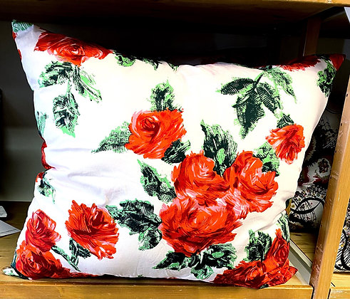 """Red Roses Pillow (25"""" x 25"""")"""