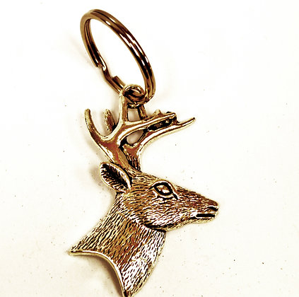 Stag head key ring