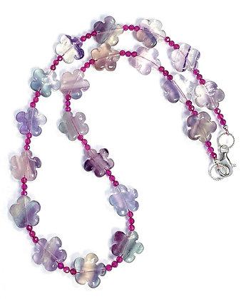 Fluorite Flowers Necklace