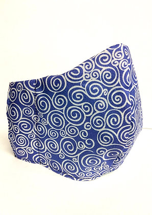 Cotton Mask (Periwinkle Swirl)