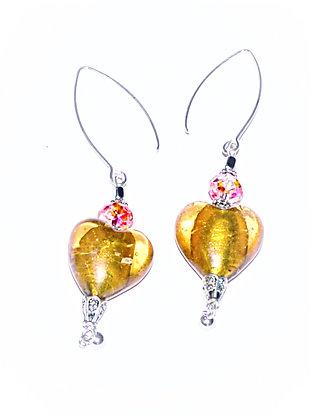 Bohemian Hearts Earring (Mustard)