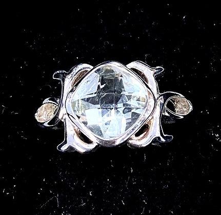 Prasiolite Renaissance-Style Ring