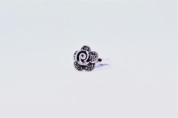 Marcasite Rose Ring