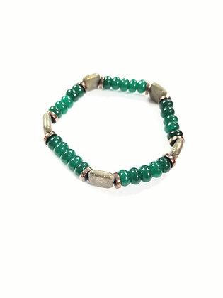 Jade & Pyrite Bracelet