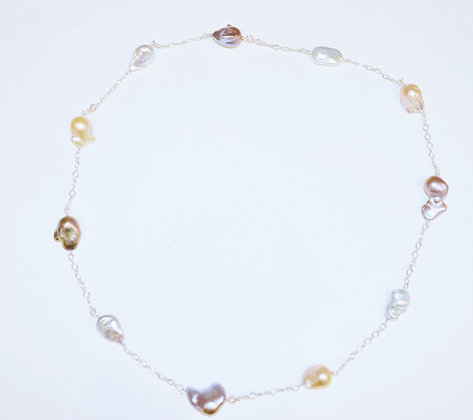 Endless Baroque Pearl Necklace