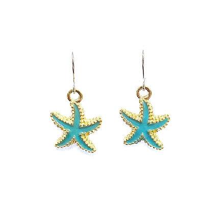 Enamel Starfish Earrings