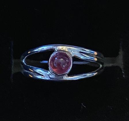 """Pink Tourmaline """"Eye"""" Ring"""