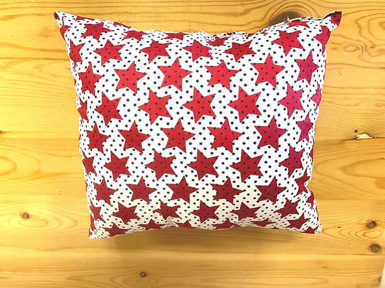 Red Stars Accent Pillow (Square)