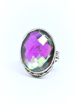Mirrored Mystic Quartz Ring