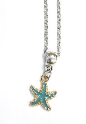 Enamel Starfish Necklace