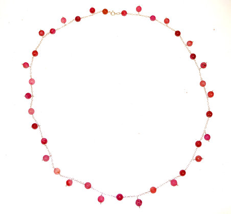 Cherry Agate Charm Necklace