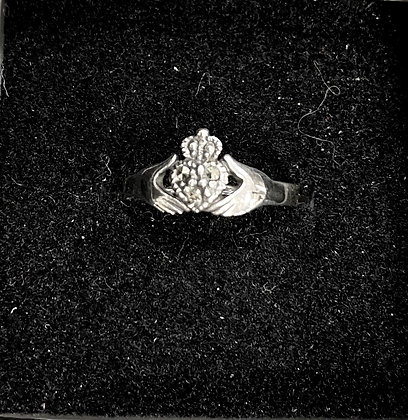 Claddagh Ring with Marcasites