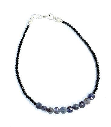 Black Spinel & Sapphire Bracelet