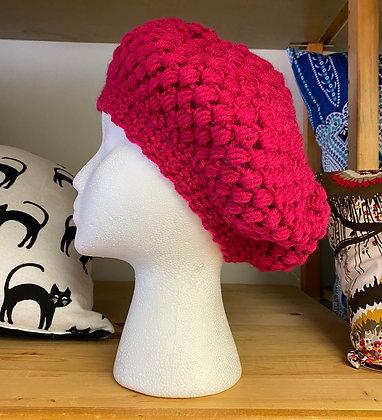 """Crochet Beret """"Raspberries"""""""