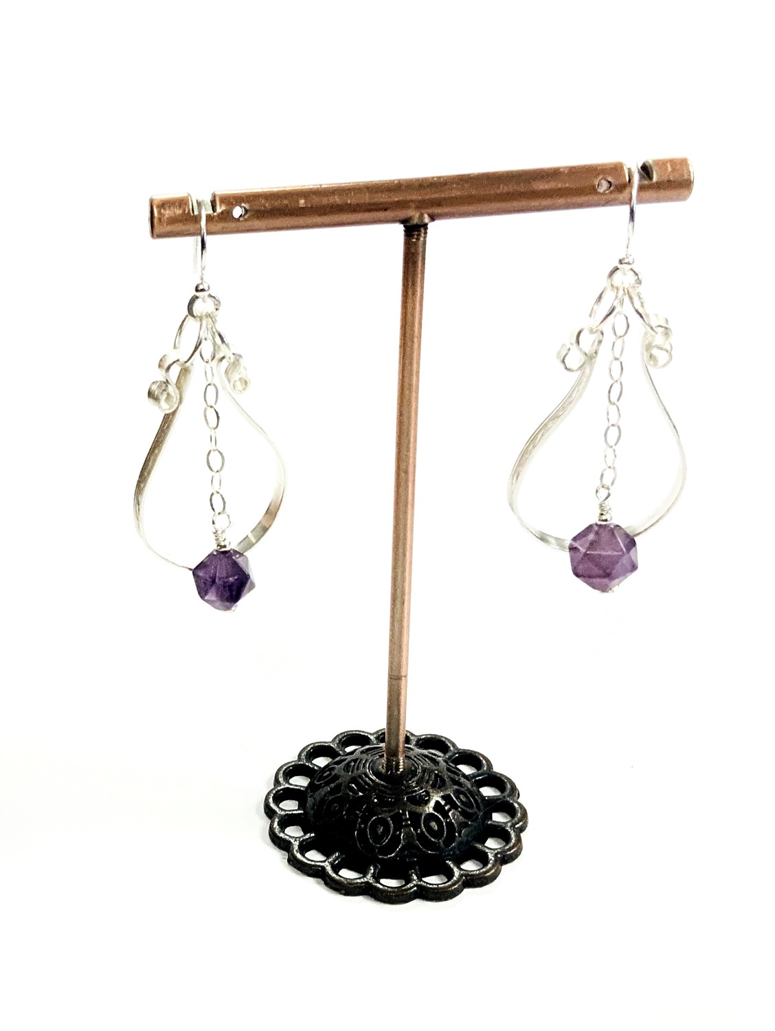 Art Deco Inspired Amethyst Earrings