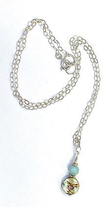 Abalone & Larimar Necklace