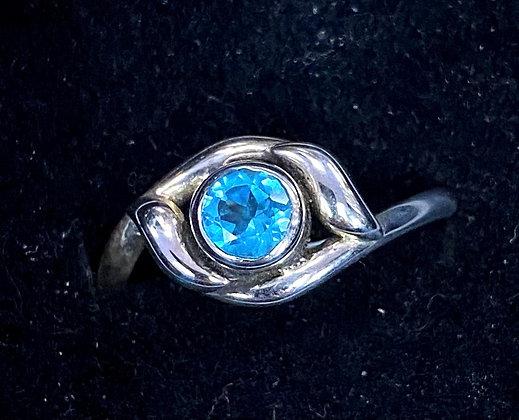 Blue Topaz Vine Setting Ring