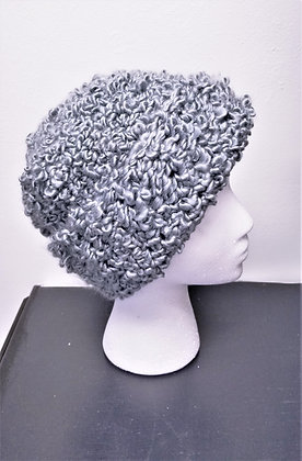 "Hand-Knit Boucle Hat:  ""Heather"""