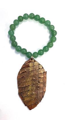 Aventurine & Dragon Skin Charm Bracelet