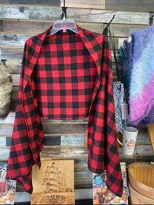 Buffalo Plaid Flannel Wrap