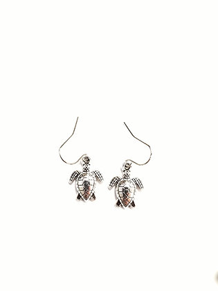 Pewter Sea Turtle Earrings