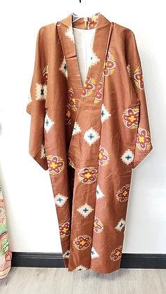 Copper Vintage Silk Kimono